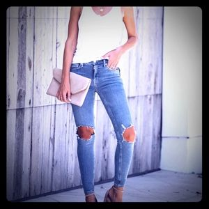 FREE PEOPLE Busted High Rise Jeans